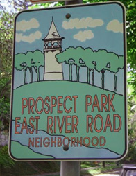 Welcome to Prospect Park East River Road Neighborhood - Photograph by Sarah McGee